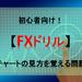 【FXドリル】初心者向け!チャートの見方を覚える問題