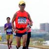 先頭通過から57分後くらいまで:37km過ぎ@おかやまマラソン2016(13日)
