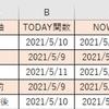 【エクセル】TODAY関数とNOW関数の使い方