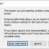 【Unity】Unity 起動時に「Enter Safe Mode?」と表示される場合