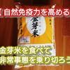 【 自然免疫力を高める 】金芽米を食べて非常事態を乗り切ろう!