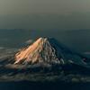 ✈熊本→羽田 夕方の美しい富士山が拝めました!
