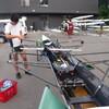 釜房湖で東北大学生と2X乗艇
