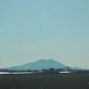 雪を頂いた富士山が見えた