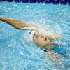 中級バタフライと初級背泳ぎ