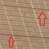 家の外壁の線が目につく
