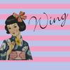 水色地牡丹絽小紋×ピンク地萩絽名古屋帯