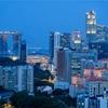 シンガポール街歩き#133(ベイエリア遠景午後7時)