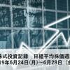 日々の株式投資記録 日経平均株価週間予想 190624~0628