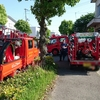 子供の憧れ消防車に乗って訓練してきました。