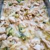 チキンとブロッコリー、蓮根の味噌ミルク煮