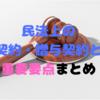 ≪宅建試験対策≫民法上の売買契約・贈与契約とは?重要要点まとめ!