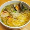 【レシピ】鶏つくねとホンビノス貝のお手軽ラーメン