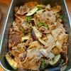 豚肉と万願寺唐辛子、水菜の味噌炒め