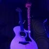 ブルーの眩い光の中のTaylor 314ce
