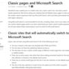 Microsoft365 SharePoint のクラシック検索が Microsoft Search に置き換わるようです