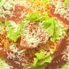 生ハムとトマトソースのパスタのレシピ