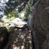 十一面左岩壁 5.10マルチ