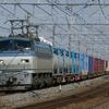 4月3日撮影 東海道線 茅ヶ崎~平塚間 松尾踏切で貨物列車を撮影 8052ㇾ 1097ㇾ