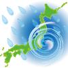 台風の中選挙に行く
