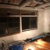 二階の床貼りと漆喰