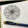 【Zentangle】風車のようなモノタングル
