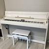我が家の白いピアノちゃん