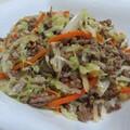 挽き肉とキャベツの炒め物。略してひきキャベ!