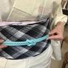 太目、短めの帯締め2本での結び方