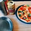 ビールと手作りピザでサッカー観戦