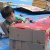 絵の具って楽しい!!(アートの日:塗りたくり遊び)~明泉高森幼稚園(2016.7.4)~