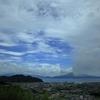 台風後の加治木町