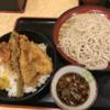 禁酒日のディナー(春盛り天丼セット)