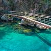 白龍湖 美しいコバルトブルーの水で満たされる人工湖 / 沈下橋の原型 早瀬の一本橋