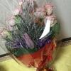 彼氏がいきなり花束を持ってきたはなし。