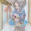 創作絵:少女の肖像画