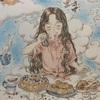 エポルの森の少女の塗り絵より「雲の上のティータイム」コップの柄は…