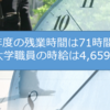 【2016年度勤務実績まとめ】大学職員31歳。年収760万円。残業71時間/年。有給取得22日。時給4,659円。ナリ