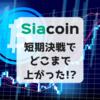 【仮想通貨】Siacoin(SC) 短期決戦でどこまで上がった!?結果を振り返ります。
