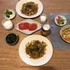 魚肉ソーセージやきそば、トマト、おかひじきのおひたし(おとな)、ブロッコリー(こども)、ノンアルコールビール