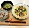 【献立・一汁一菜】十六穀ごはん+厚揚げチャンプルー+味噌汁