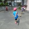サッカー遊び