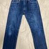 ユニクロのセルビッジレギュラーフィットストレートジーンズを一年ぶりに洗った。【ジーンズ経年変化】