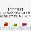 【ブログ運営】はてなブログを始めて11ヶ月!月1万円まであとちょっと?振り返り〜