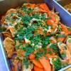 豚バラ肉と春人参のトマト味噌ソース