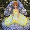 黄色と白のドレス