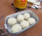メスティン蒸し料理で山ごはん!燻製料理とバット(網)の大きさ調理のコツ