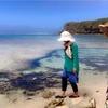 大潮の日 浜下り 伊計島で潮干狩り
