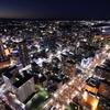 アクトタワー展望回廊から望む浜松市中心部の夜景