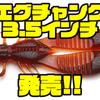 【レイドジャパン】圧倒的な水押しのチャンクワームのダウンサイズモデル「エグチャンク3.5インチ」発売!